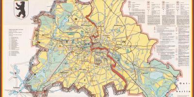 berlinmuren kart Berlin muren kart   Kart over berlin murens rute (Tyskland) berlinmuren kart